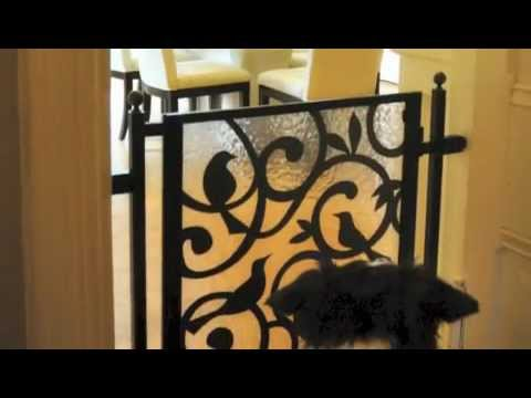 Custom Pet Wrought Iron Metal Gates For Dog and Cat
