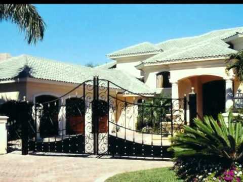 Wrought Iron Custom Metal Gate Design Service In Florida